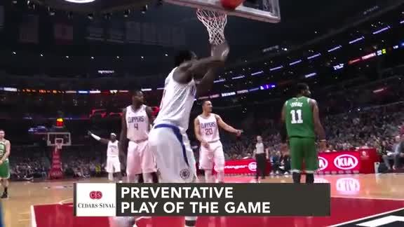 Cedars-Sinai Preventative Play of the Game | Clippers vs. Celtics (3.11.19)