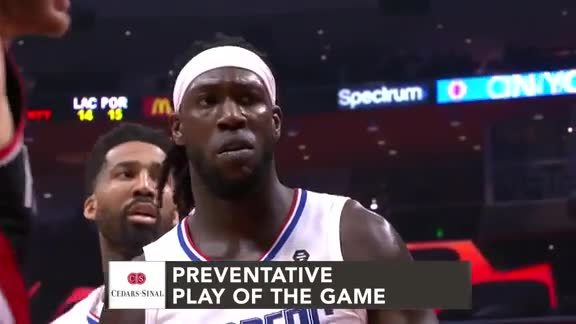 Cedars-Sinai Preventative Play of the Game | Clippers vs. Trail Blazers (3.12.19)