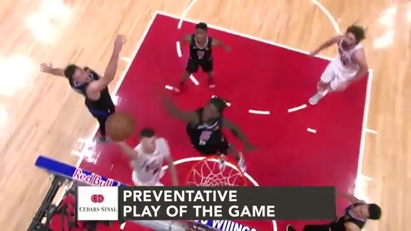 Cedars-Sinai Preventative Play of the Game | Clippers vs. Bulls (3.15.19)