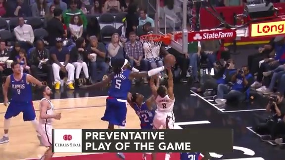 Cedars-Sinai Preventative Play of the Game | Clippers vs. Nets (3.17.19)