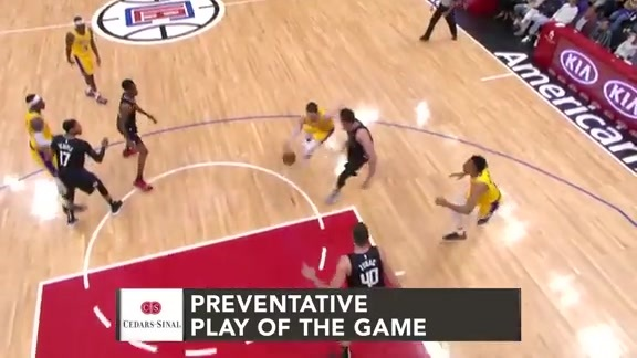 Cedars-Sinai Preventative Play of the Game | Clippers vs. Lakers (4.5.19)