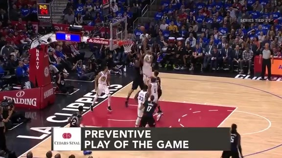 Cedars-Sinai Preventive Play of the Game | Clippers vs. Warriors (4.18.19)