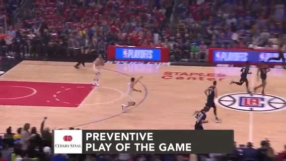 Cedars-Sinai Preventive Play of the Game | Clippers vs. Warriors (4.21.19)