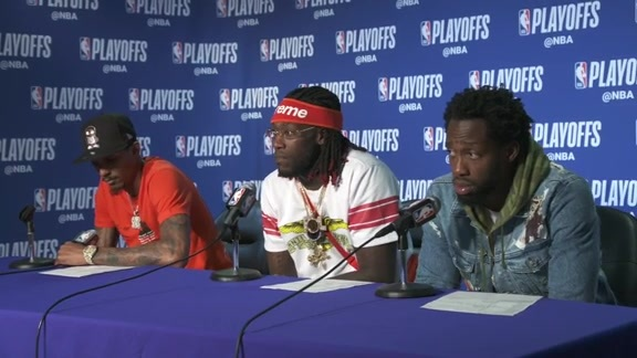 Post-Game Sound | Lou Williams, Montrezl Harrell, Patrick Beverley (4.24.19)