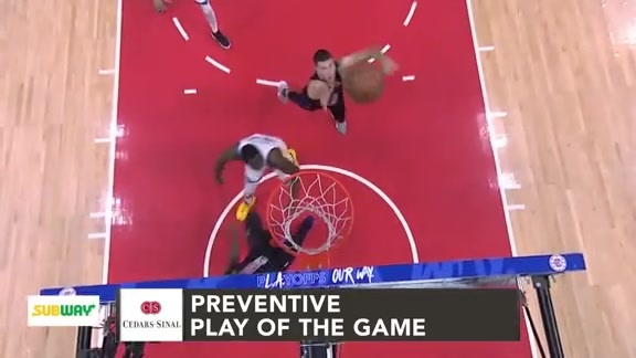 Cedars-Sinai Preventive Play of the Game | Clippers vs. Warriors (4.26.19)
