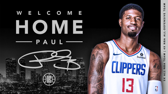Welcome Home, Paul George | LA Clippers