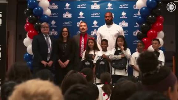 Kawhi Leonard & Baby2Baby Donate One Million Backpacks to SoCal Students