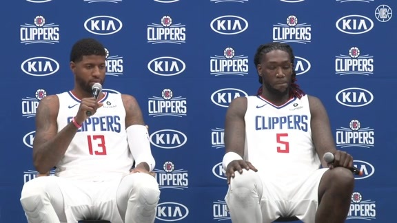 Media Day 2019 | Paul George and Montrezel Harrell