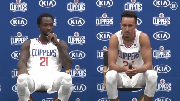 Media Day 2019 | Patrick Beverley and Landry Shamet