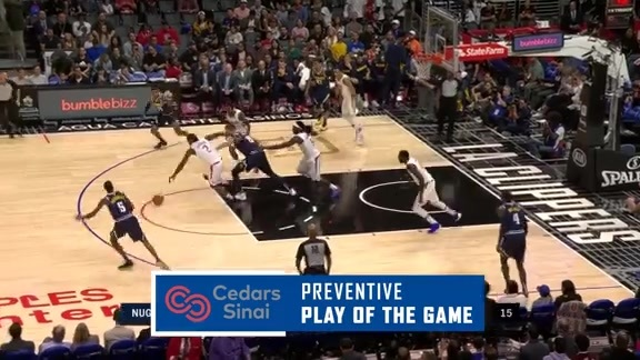 Cedars-Sinai Preventive Play of the Game | Clippers vs. Nuggets (10.10.19)