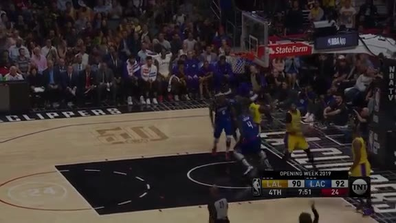 Lou Williams Steal Montrezl Floater (10.22.19)