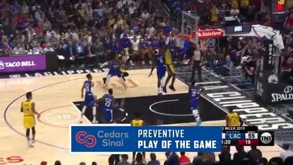 Cedars-Sinai Preventive Play of the Game | Clippers vs. Lakers (10.22.19)
