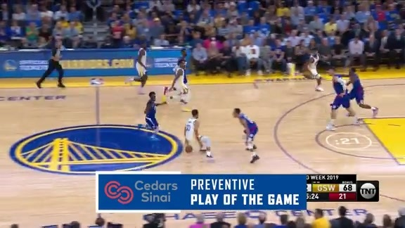 Cedars-Sinai Preventive Play of the Game   Clippers at Warriors (10.24.19)
