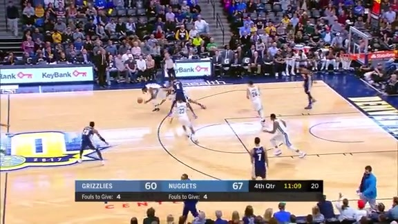 Grizzlies @ Nuggets highlights 1.12.18