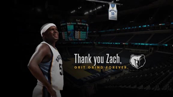 The Grizzlies pay tribute to Zach Randolph