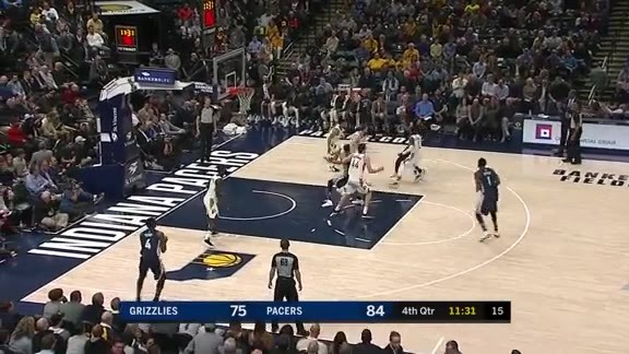 Grizzlies @ Pacers highlights 1.31.18