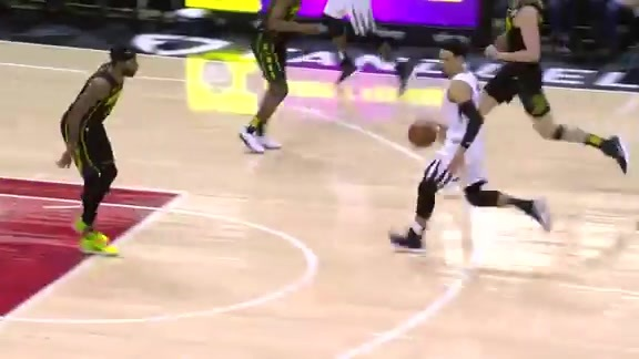 Brooks drives strong to the rim
