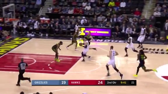 Grizzlies @ Hawks highlights 2.6.18
