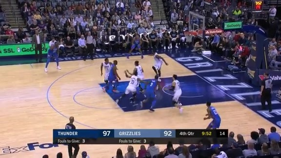 Evans denies OKC's three