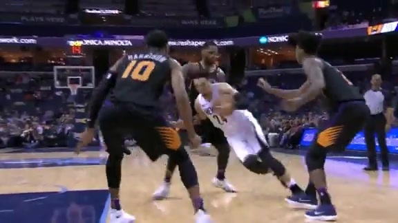 Brooks twist and turns his way to the rim
