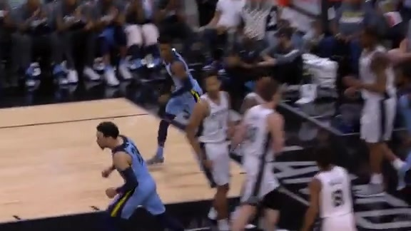 Grizz rookies connect on the break