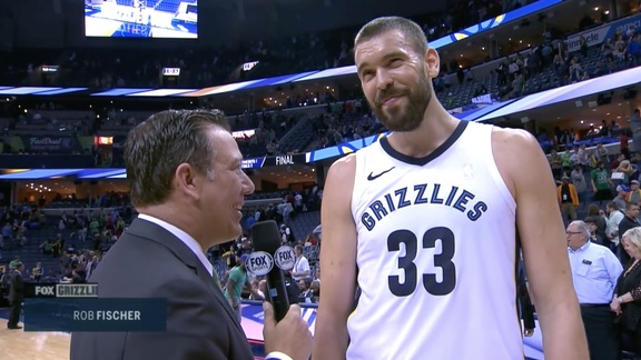 MEMvDEN: Gasol walkoff interview 3.17.18