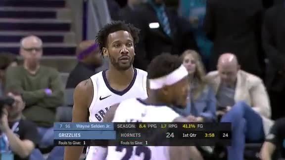 Selden puts in work against Hornets