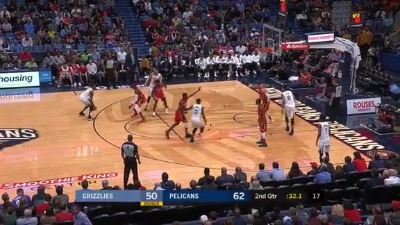 Grizzlies @ Pelicans highlights 4.4.18