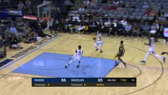 Yuta's two-handed slam ignites FedExForum