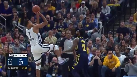 Slomo goes glass against Pacers defender