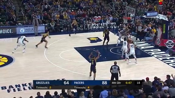 Parsons denies Pacers at the rim