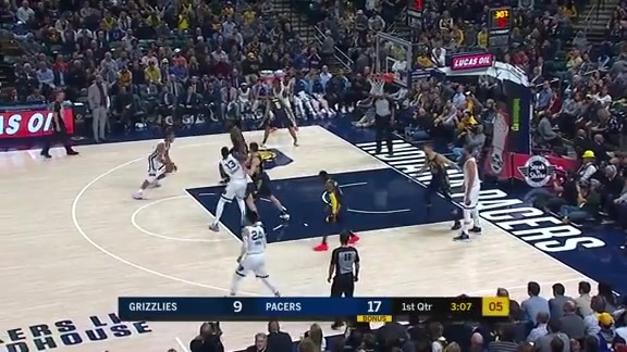 Grizzlies @ Pacers highlights 10.17.18