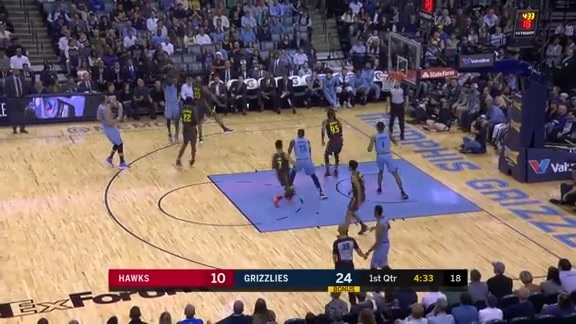 Conley drains the trey