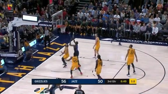 Jaren Jackson Jr. slams it down hard