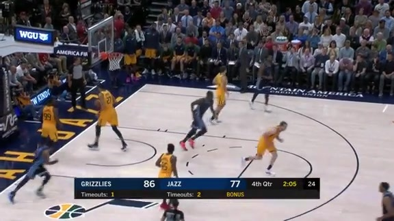 Mike Conley scores 23 points against Jazz