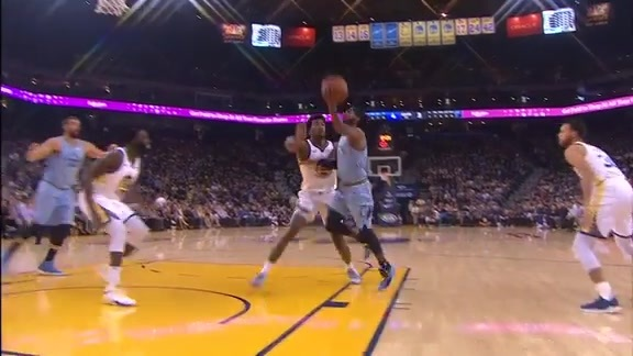 Conley goes high off the glass