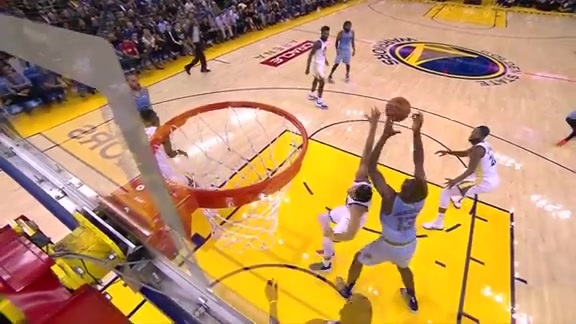 Jackson Jr. too much down low for Warriors