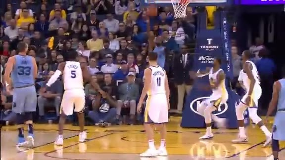 Gasol's behind the back dish