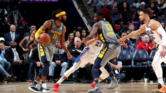 Mike Conley drops 32 points against 76ers