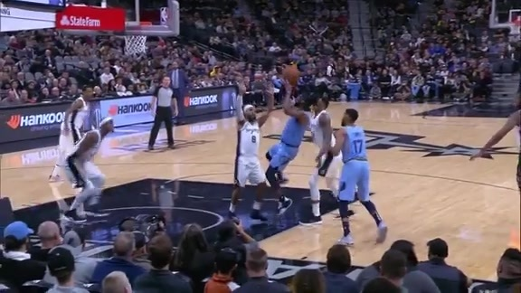 Mike Conley 30 points @ Spurs 11.21.18