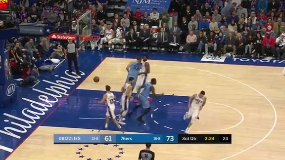 Mike Conley 21 points @ 76ers 12.2.18