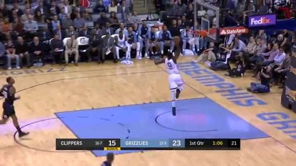 JaMychal Green throws down a one-handed jam