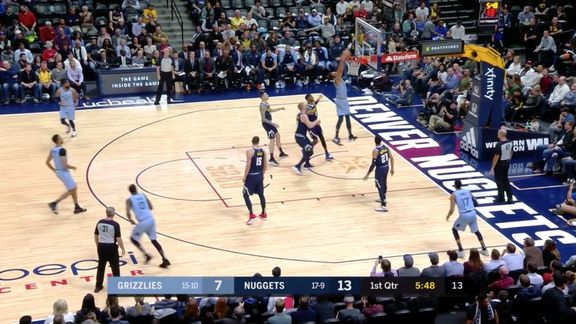 Grizzlies @ Nuggets highlights 12.10.18