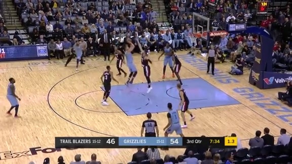 Marc Gasol beats the shot clock with a pretty step-back jumper