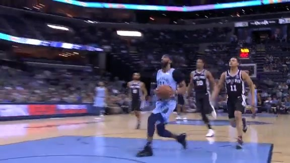 Conley's fast break finish