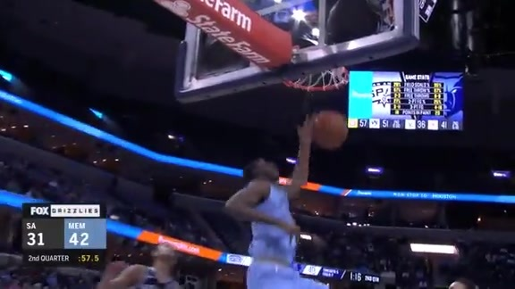 Jaren Jackson Jr. throws down the alley-oop