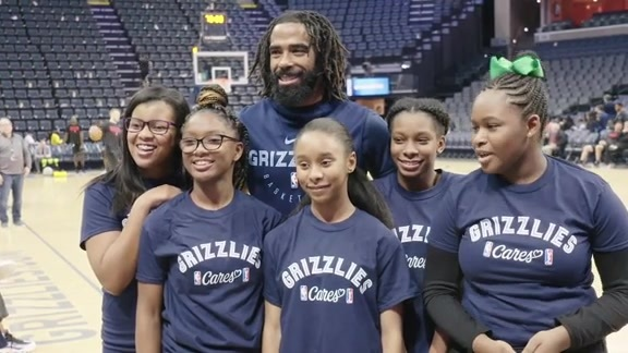 Grizzlies Mentoring Program, Shootaround Recap