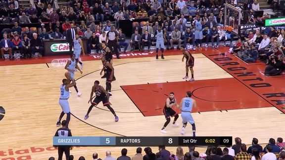 Grizzlies @ Raptors highlights 1.19.19