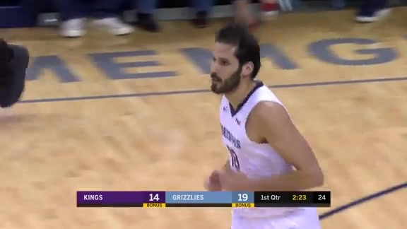 Casspi with the steal and slam