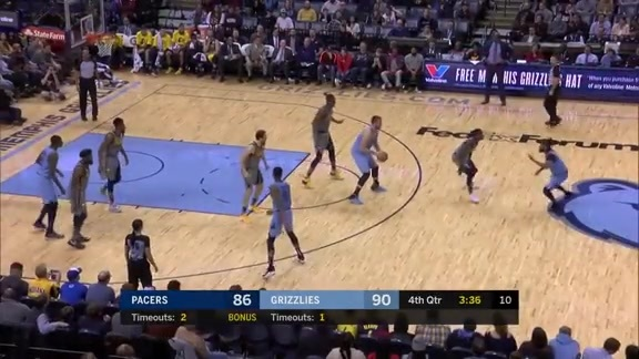 Mike Conley 22 points vs. Pacers 1.26.19